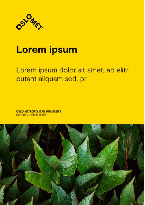 Eksempel på plakat med vannrett tekst og bilde