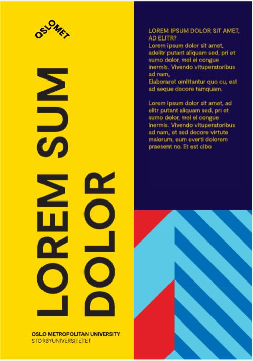 Eksempel på plakat med loddrett tekst
