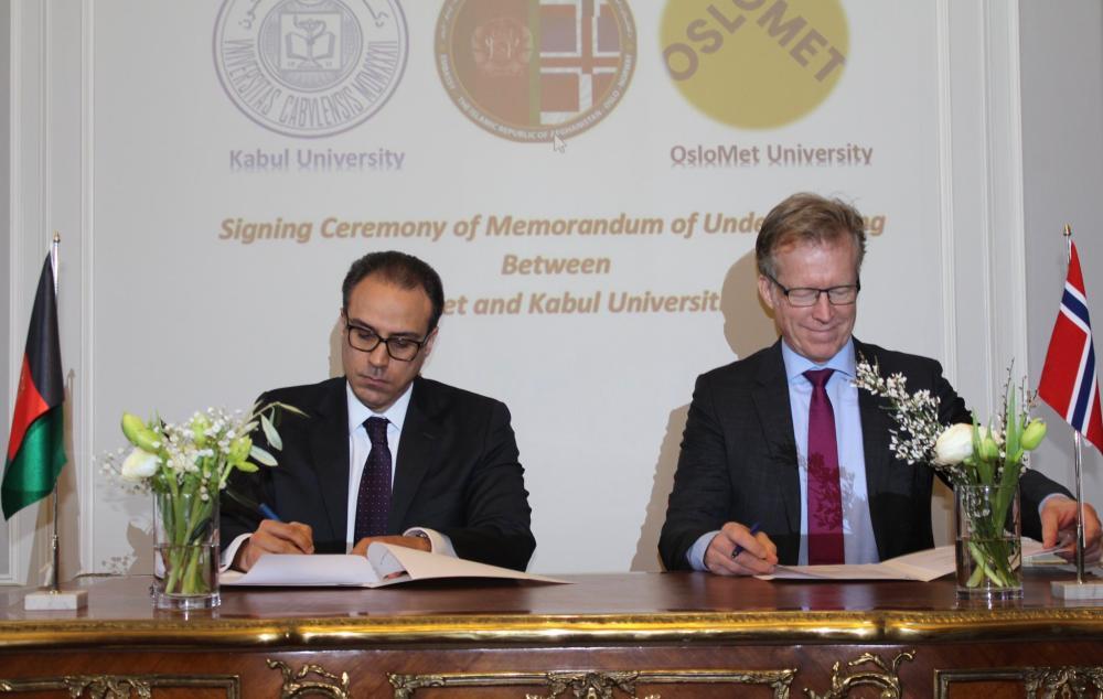 Samarbeid med Kabul University