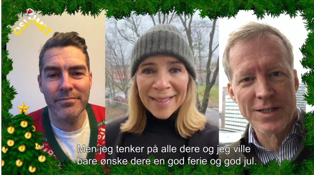 God jul fra rektoratet!