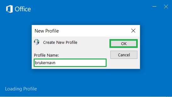 Skjermbilde: enter your username